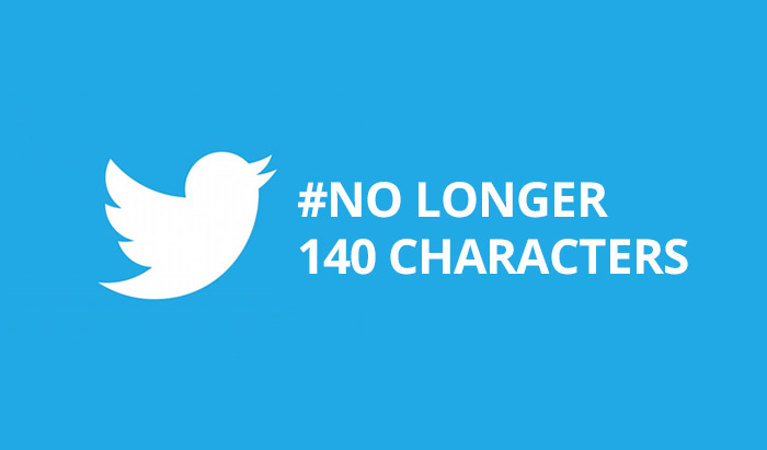 Twitter no longer 140 characters