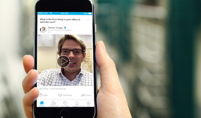 Video feature added to Linkedin